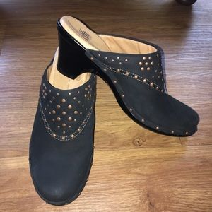 Sofft studded suede clogs